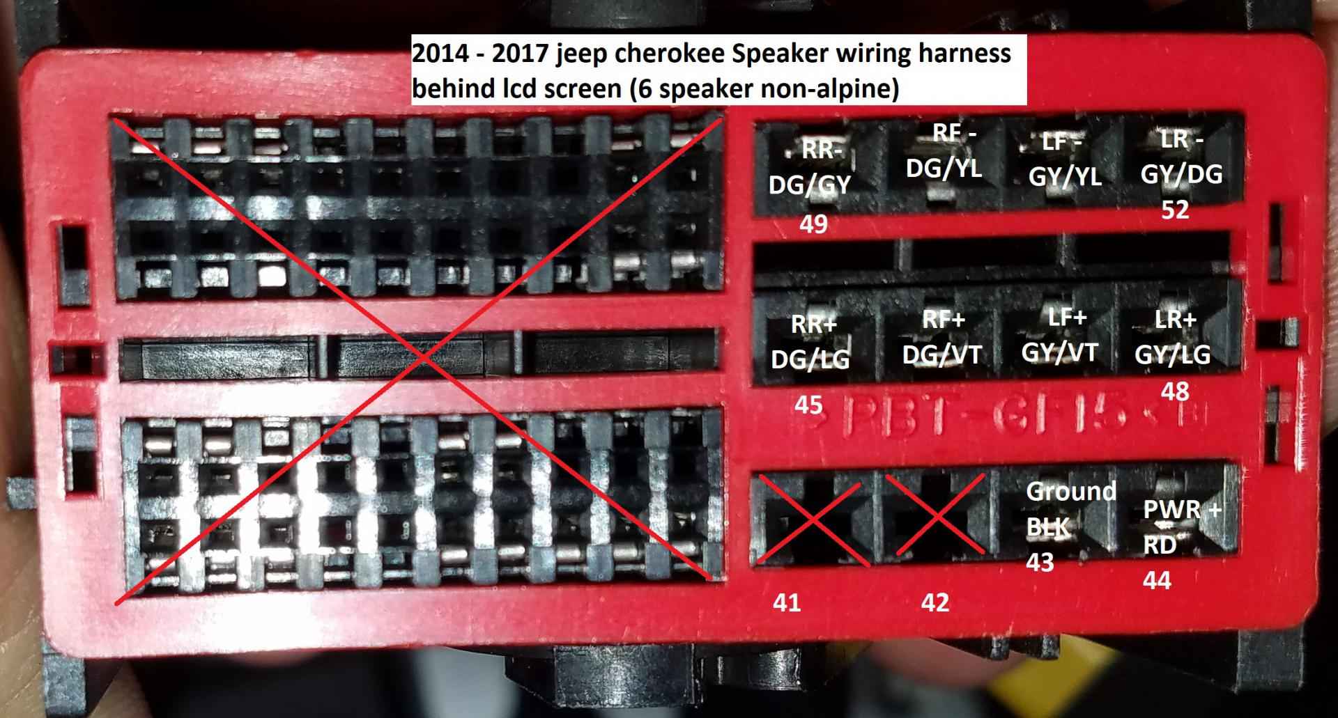 Head Unit Wiring Diagrams 2014 Jeep Cherokee Forums – Jeep Uconnect Wiring Diagram