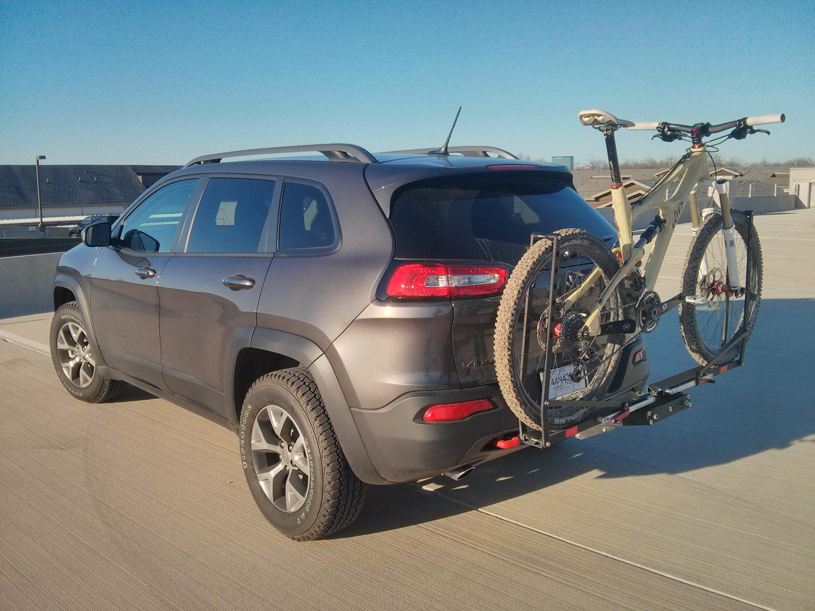 roof rack or hitch for bicycle. - 2014+ jeep cherokee forums